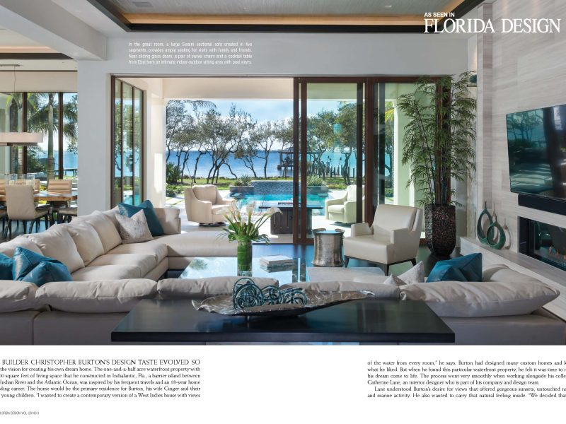 Christopher Burton Homes | Burton Private Residence Featured in ...